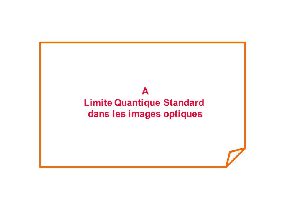 Limite Quantique Standard dans les images optiques