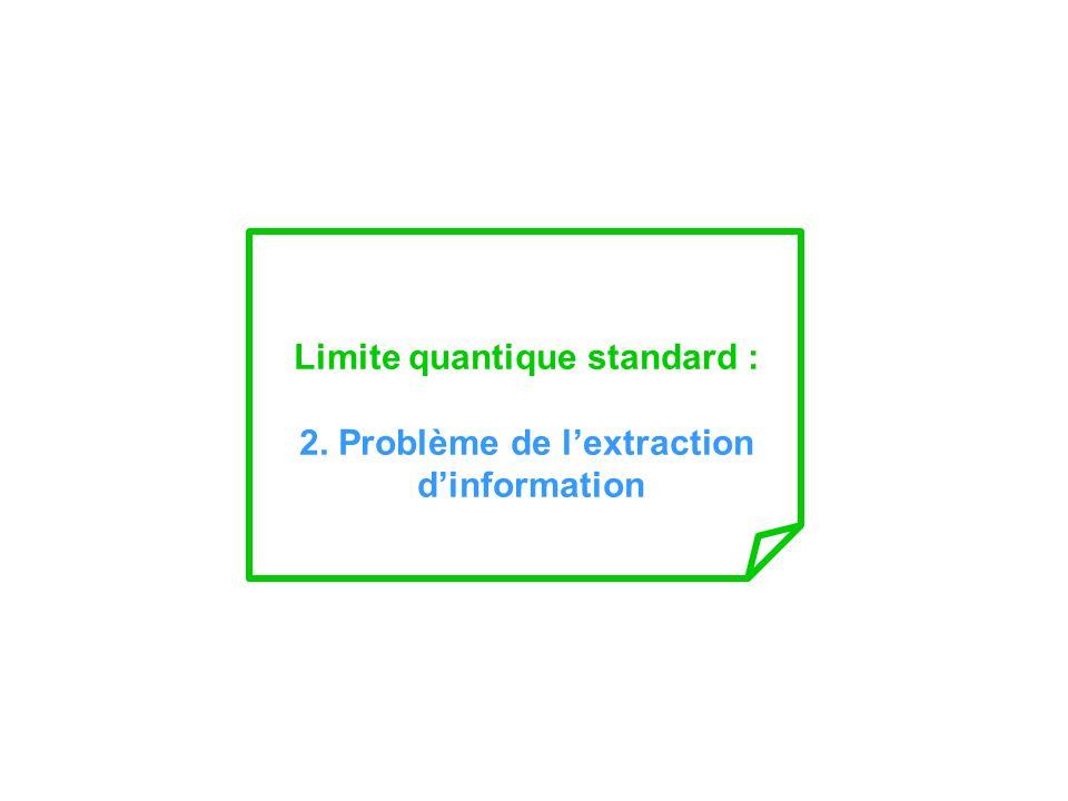 Limite quantique standard : 2. Problème de l'extraction