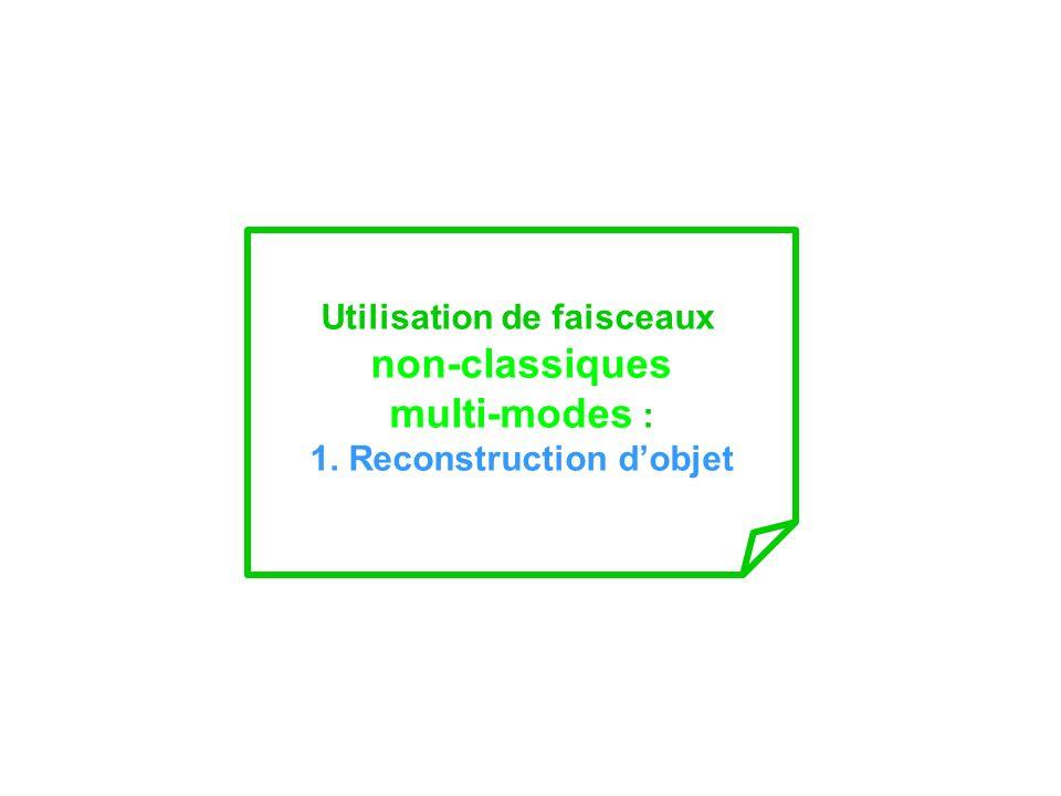 Utilisation de faisceaux 1. Reconstruction d'objet