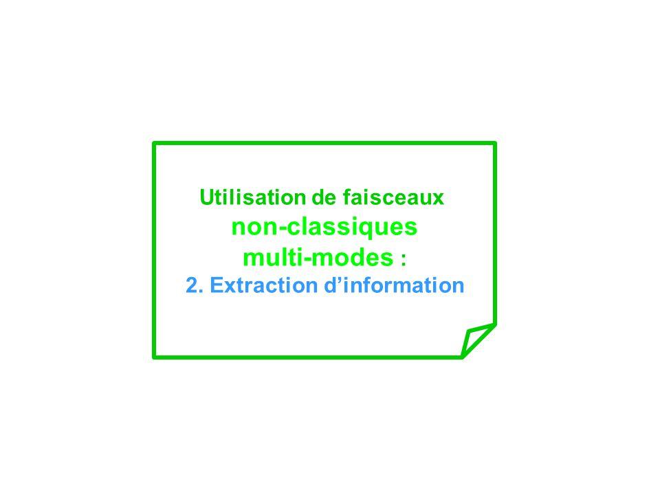 Utilisation de faisceaux 2. Extraction d'information