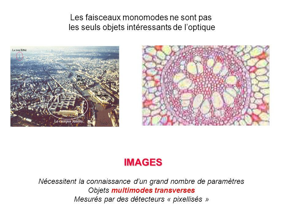 IMAGES Les faisceaux monomodes ne sont pas