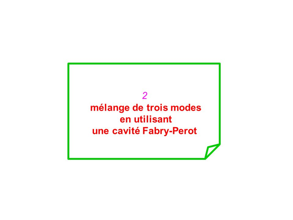 une cavité Fabry-Perot