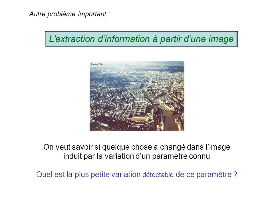 L'extraction d'information à partir d'une image