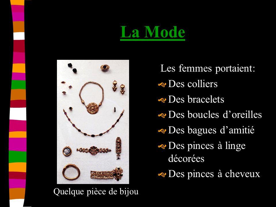 La Mode Les femmes portaient: Des colliers Des bracelets