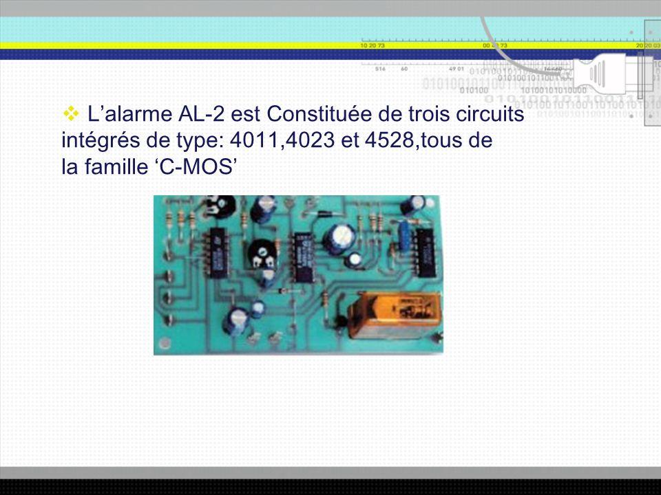 L'alarme AL-2 est Constituée de trois circuits