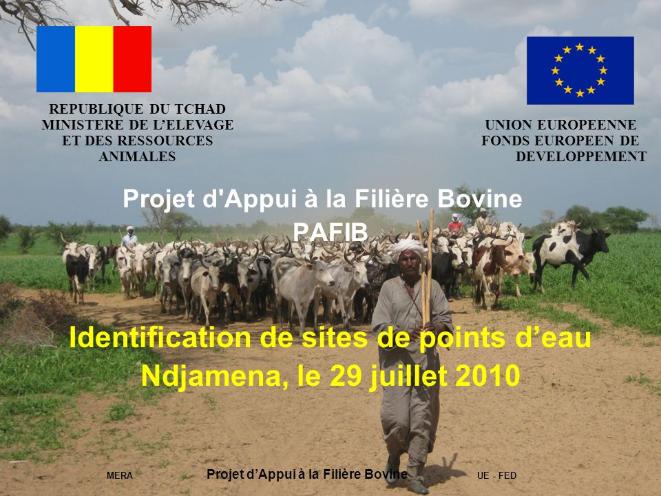 Identification de sites de points d'eau Ndjamena, le 29 juillet 2010