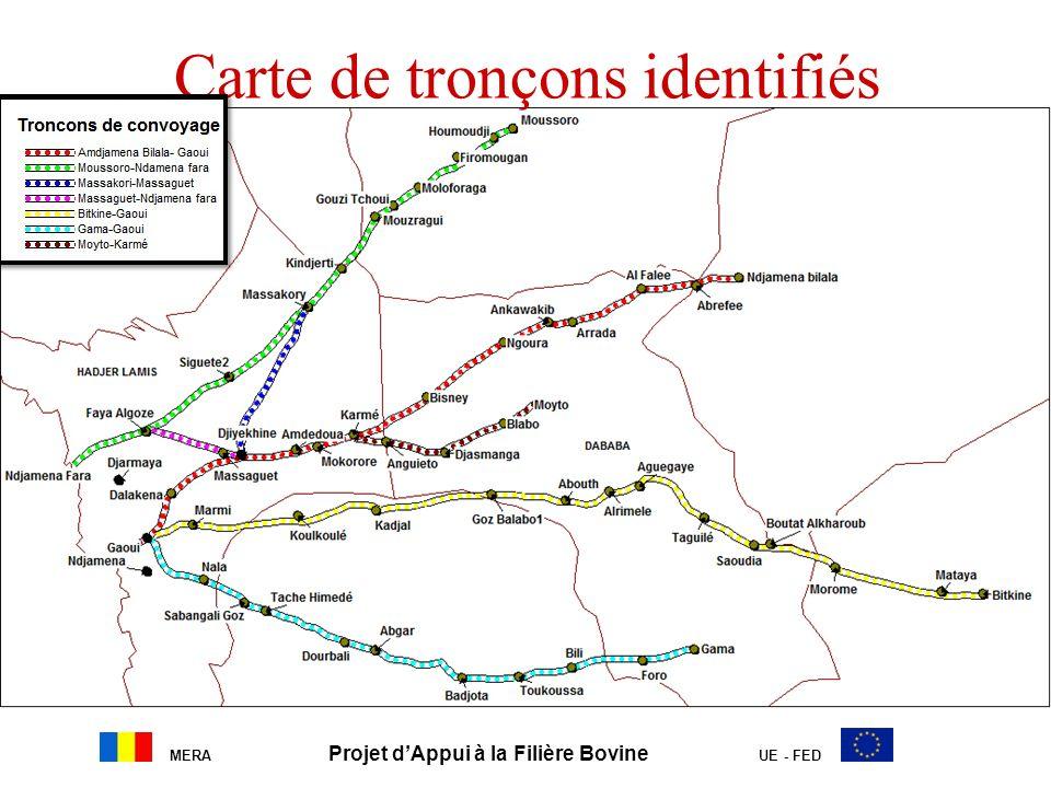 Carte de tronçons identifiés