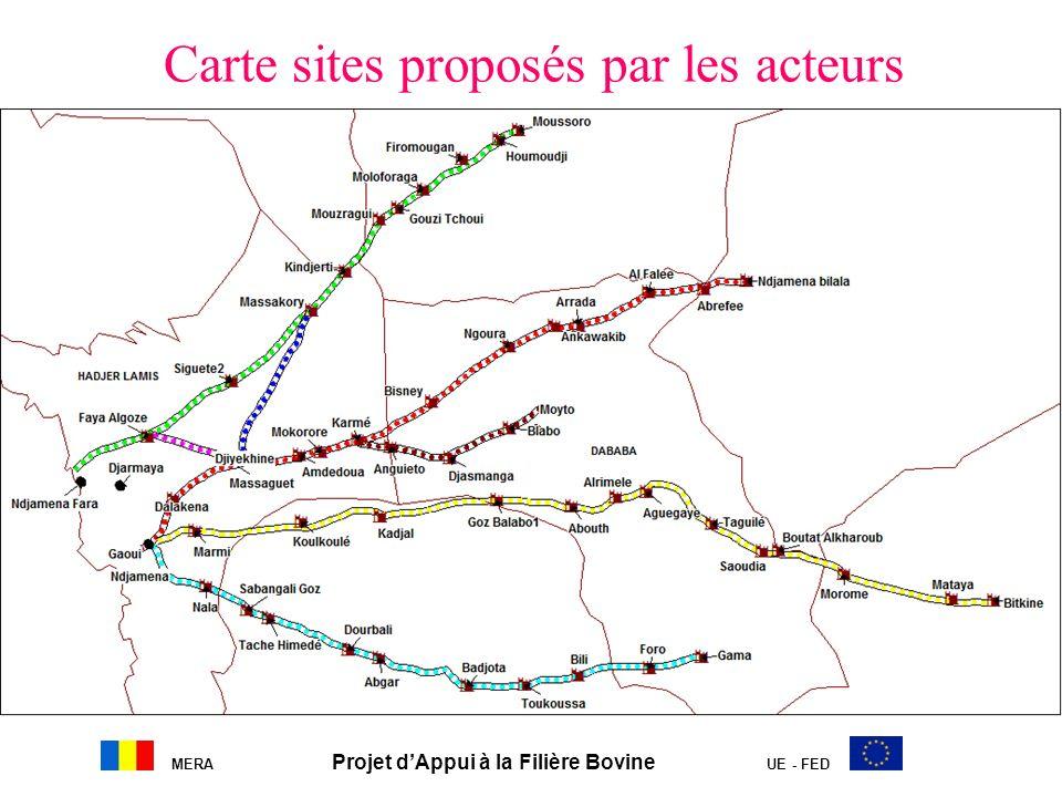 Carte sites proposés par les acteurs
