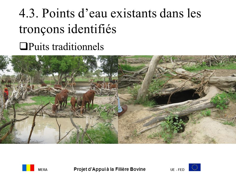 4.3. Points d'eau existants dans les tronçons identifiés