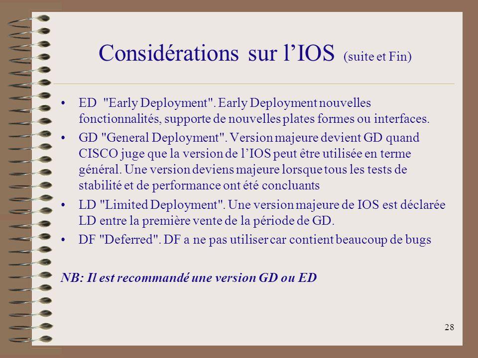 Considérations sur l'IOS (suite et Fin)