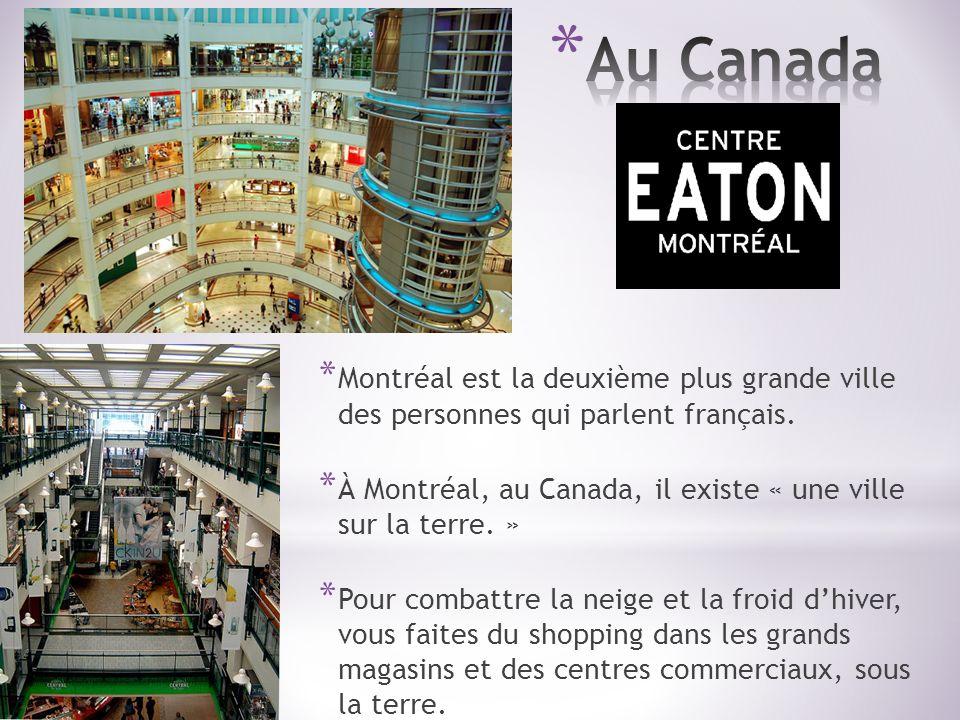 Au Canada Montréal est la deuxième plus grande ville des personnes qui parlent français.