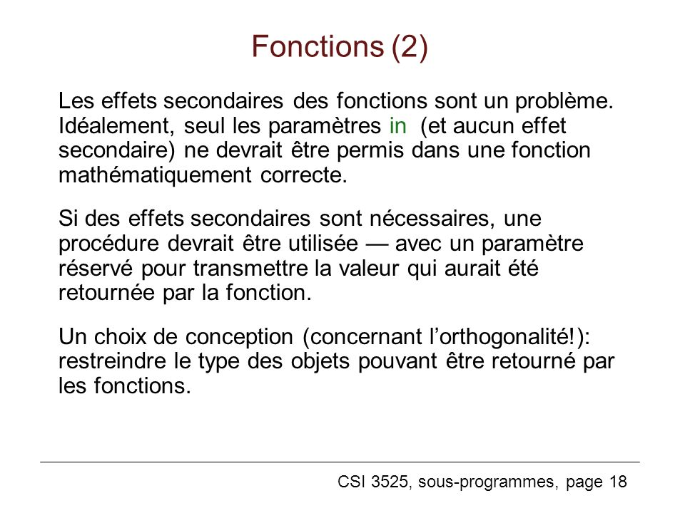 Fonctions (2)