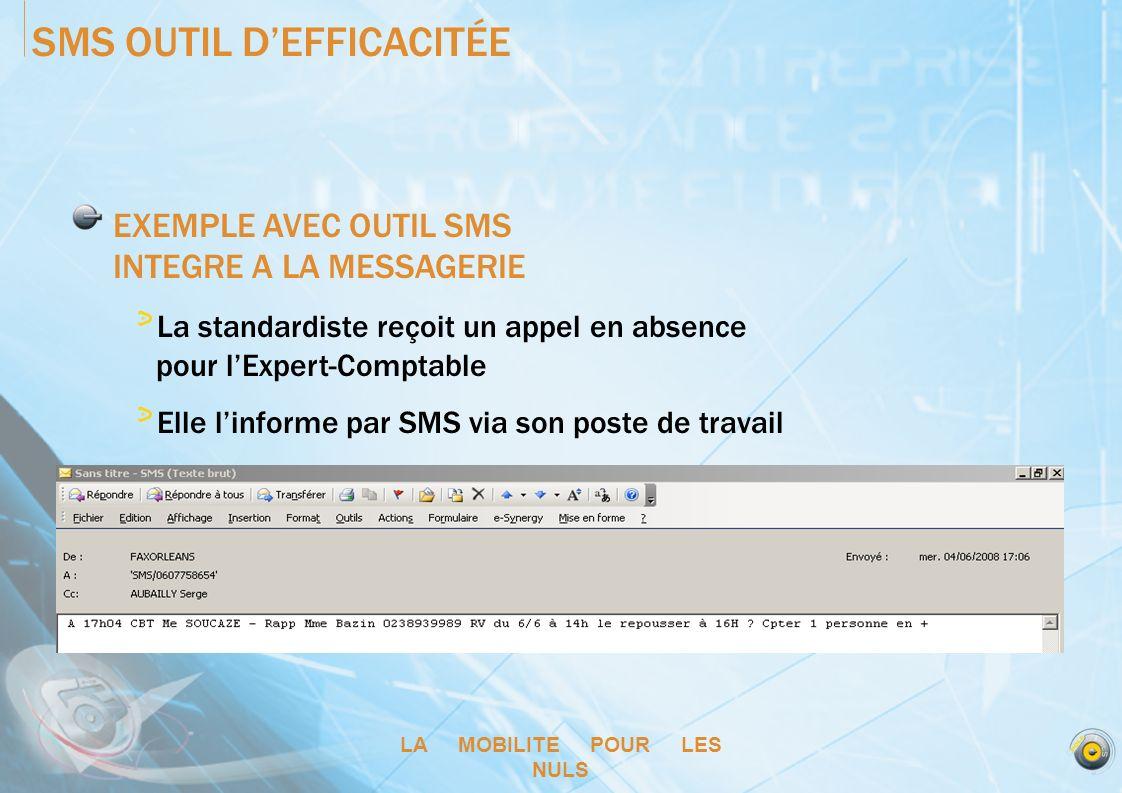 SMS OUTIL D'EFFICACITÉE