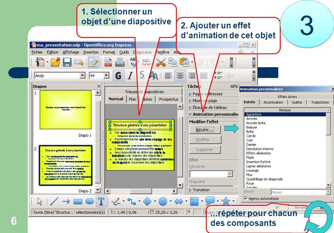 3 1. Sélectionner un objet d'une diapositive