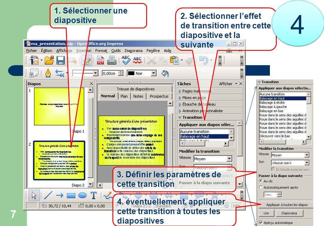4 1. Sélectionner une diapositive