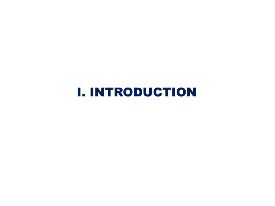 I. INTRODUCTION