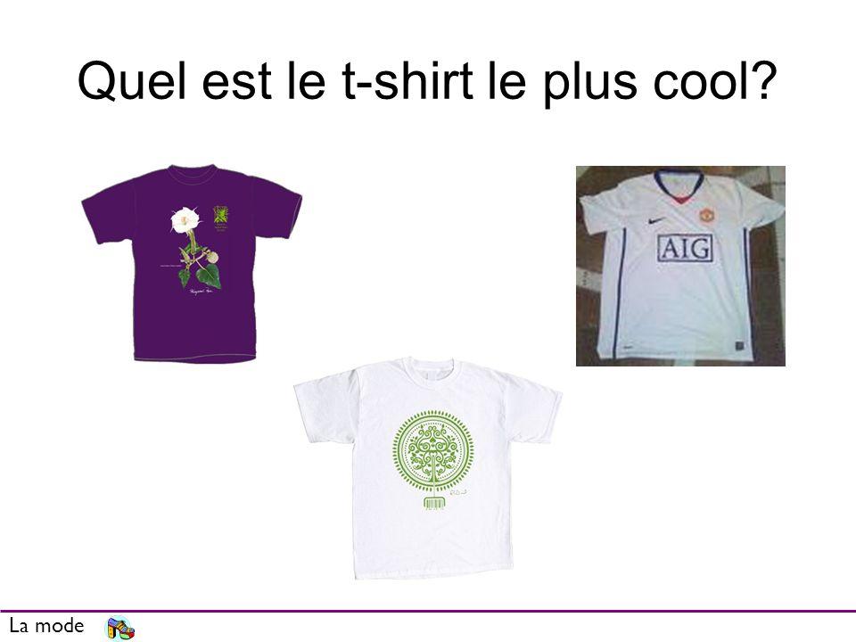 Quel est le t-shirt le plus cool