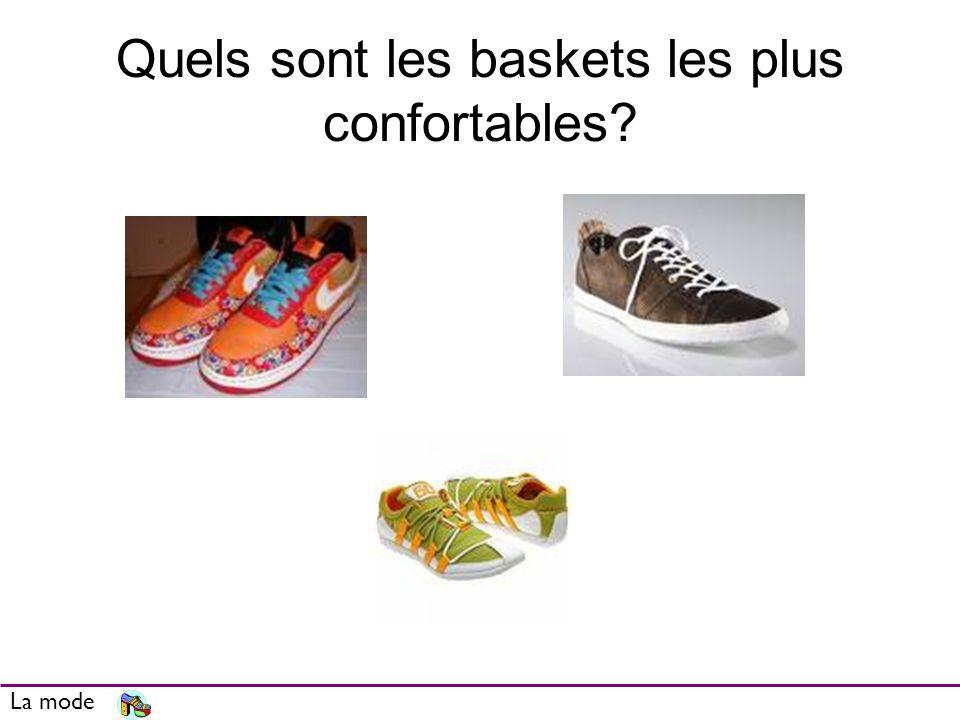 Quels sont les baskets les plus confortables