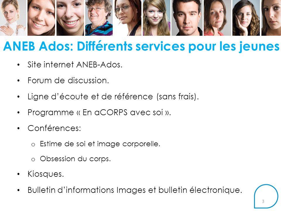 ANEB Ados: Différents services pour les jeunes