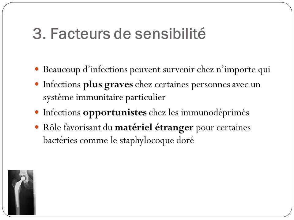 3. Facteurs de sensibilité