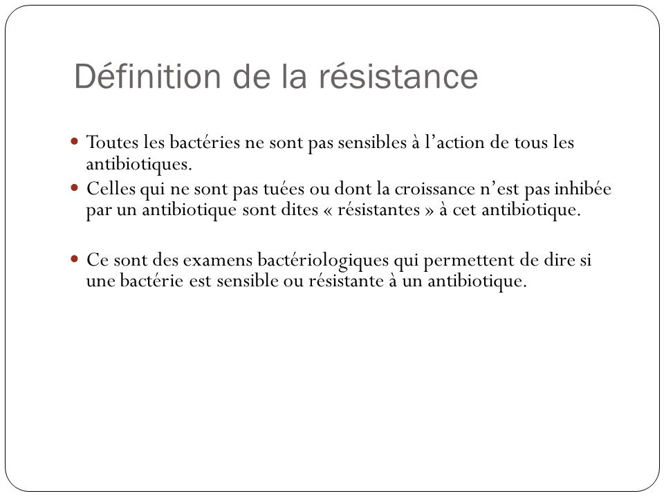 Définition de la résistance