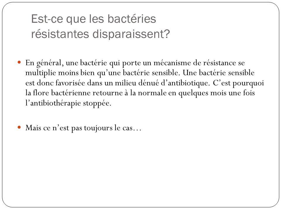 Est-ce que les bactéries résistantes disparaissent