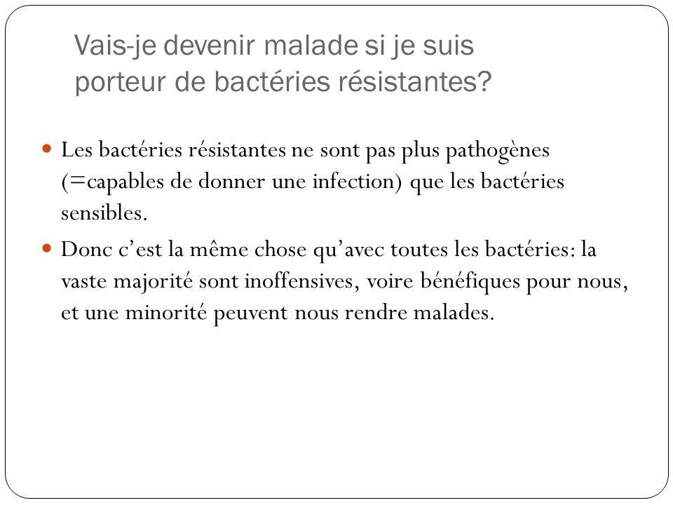Vais-je devenir malade si je suis porteur de bactéries résistantes