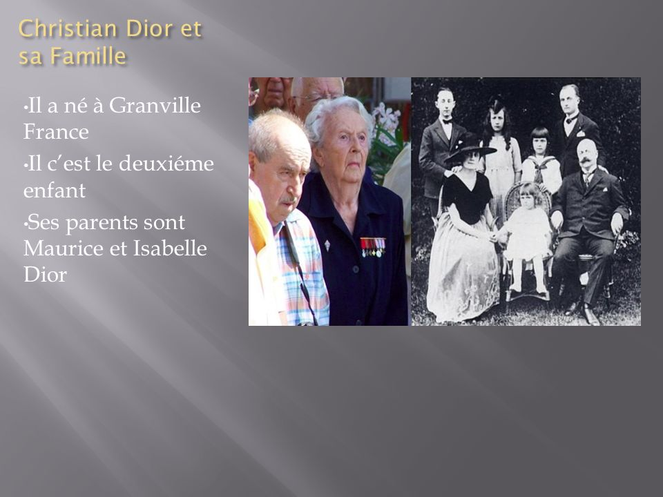 Christian Dior et sa Famille