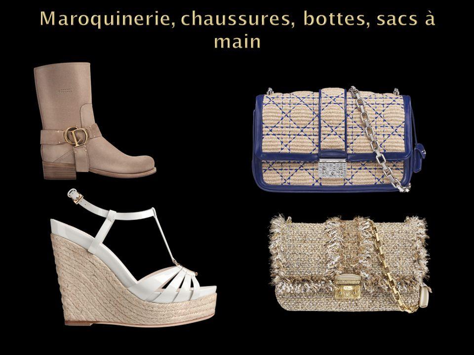 Maroquinerie, chaussures, bottes, sacs à main