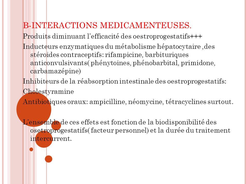 B-INTERACTIONS MEDICAMENTEUSES.