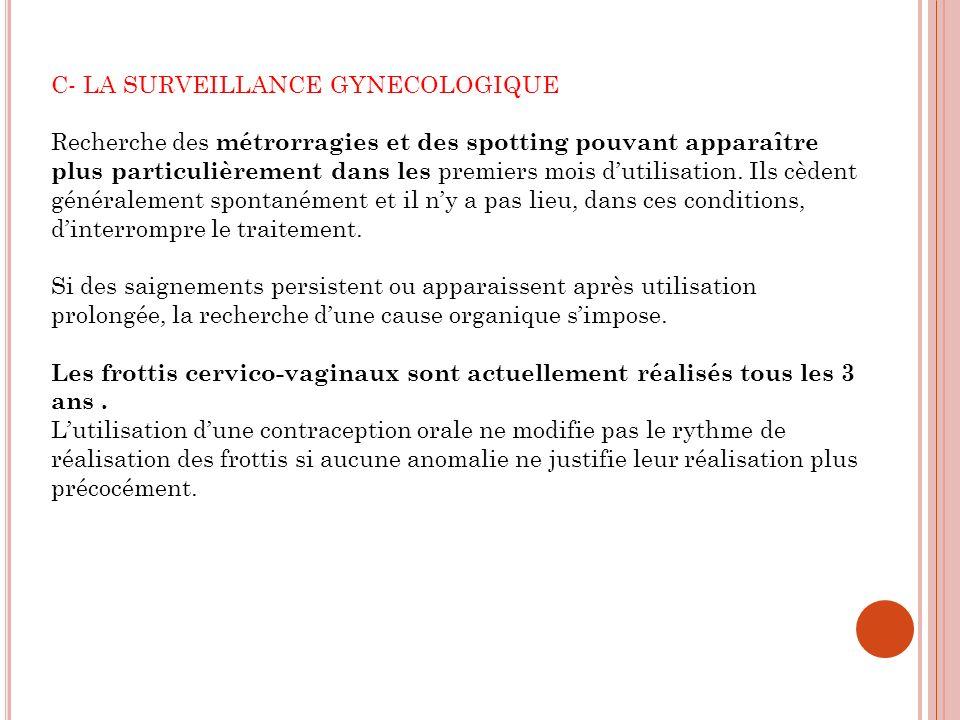 C- LA SURVEILLANCE GYNECOLOGIQUE