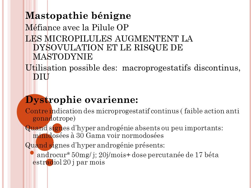 Dystrophie ovarienne: