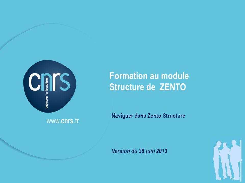 Formation au module Structure de ZENTO