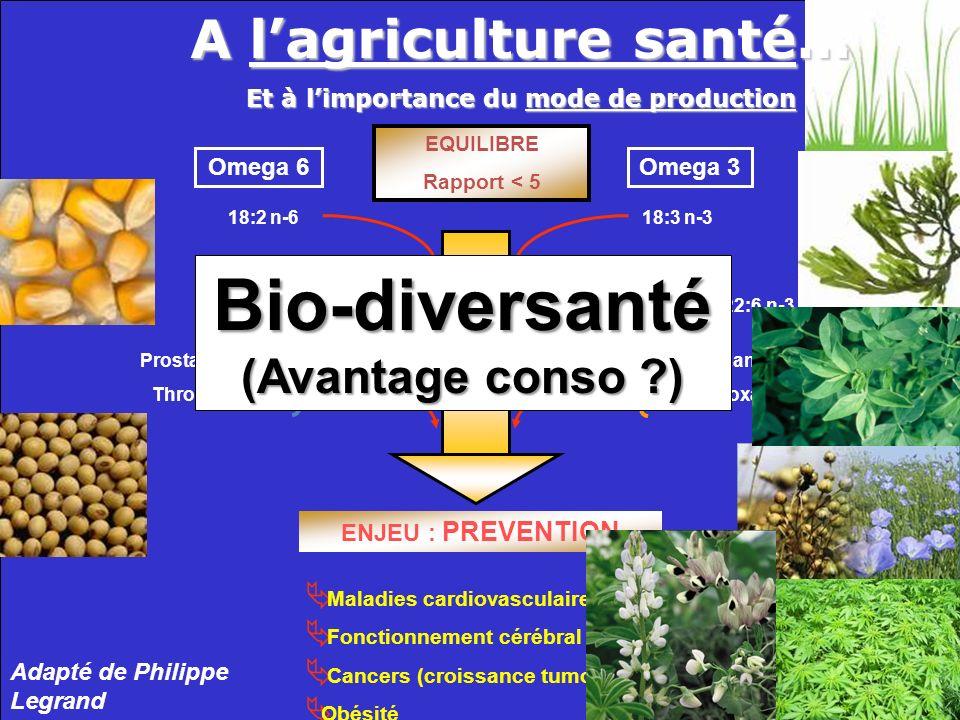 A l'agriculture santé… Et à l'importance du mode de production