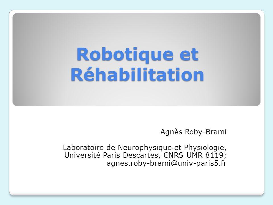 Robotique et Réhabilitation