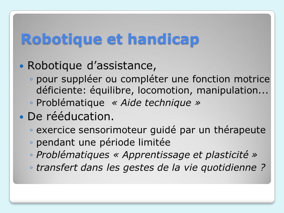 Robotique et handicap Robotique d'assistance, De rééducation.