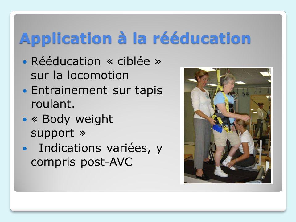 Application à la rééducation