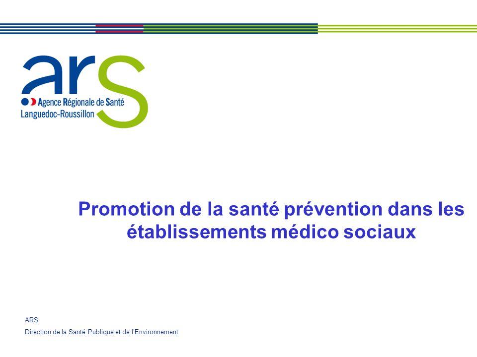 Promotion de la santé prévention dans les établissements médico sociaux