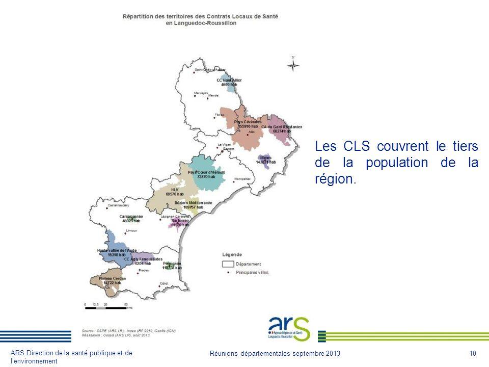 Les CLS couvrent le tiers de la population de la région.