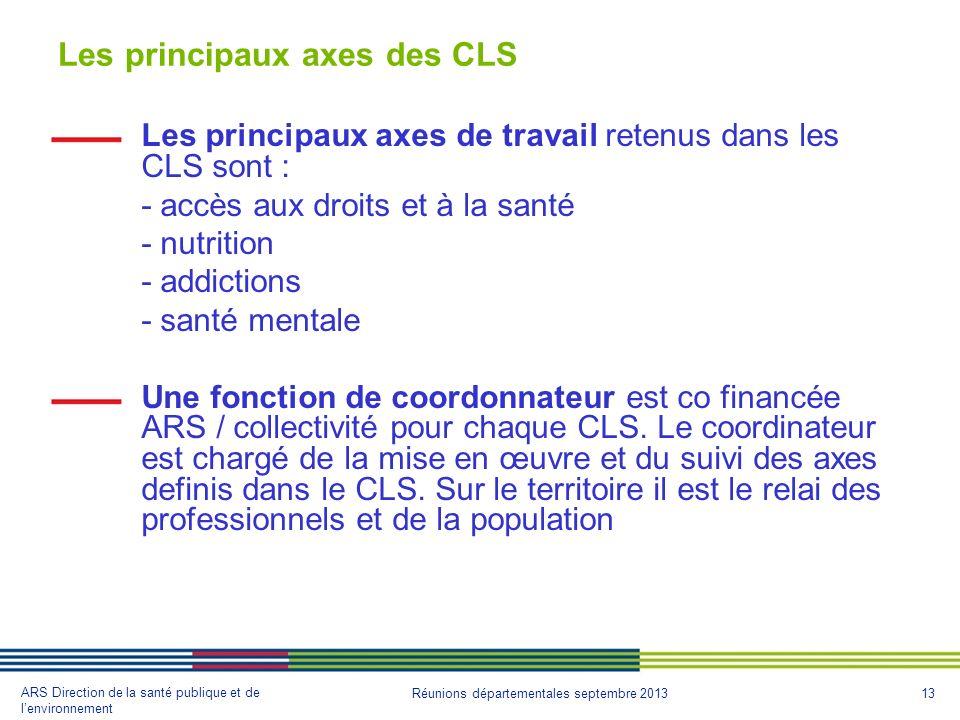 Les principaux axes des CLS