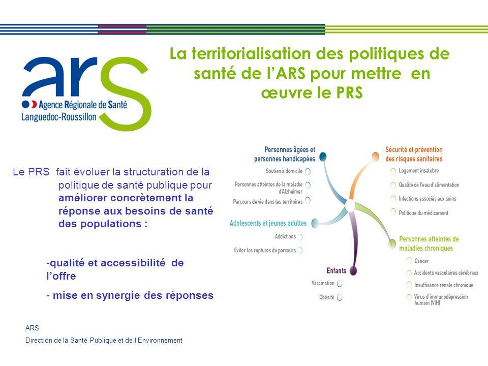 La territorialisation des politiques de santé de l'ARS pour mettre en œuvre le PRS