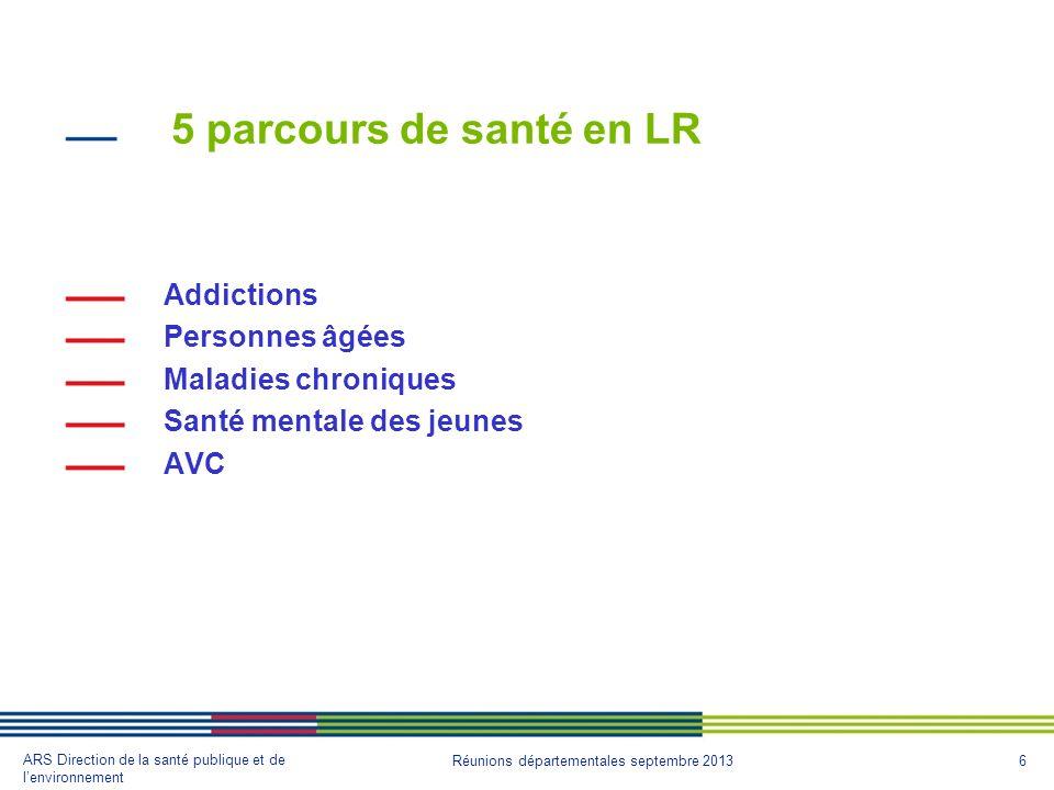 5 parcours de santé en LR Addictions Personnes âgées