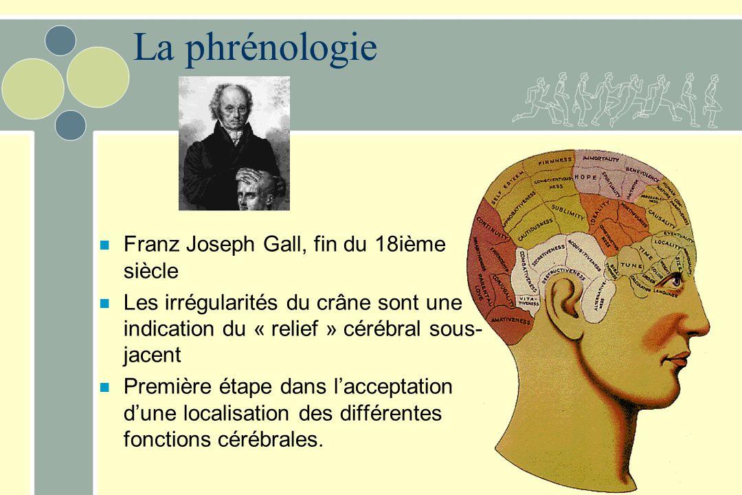 La phrénologie Franz Joseph Gall, fin du 18ième siècle