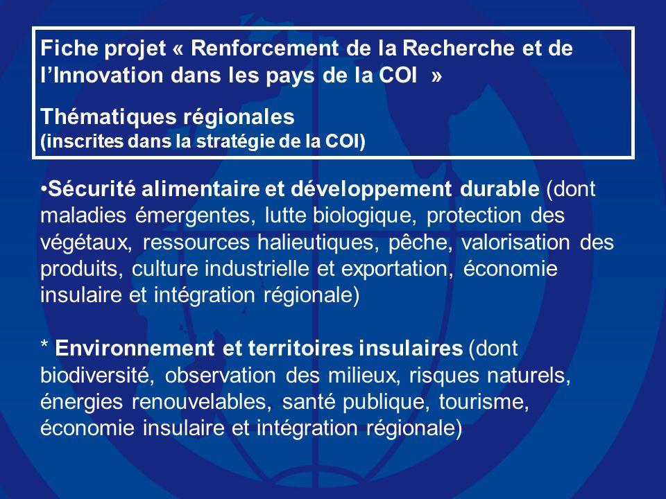 Thématiques régionales Pertinence d'un RUR en 2009