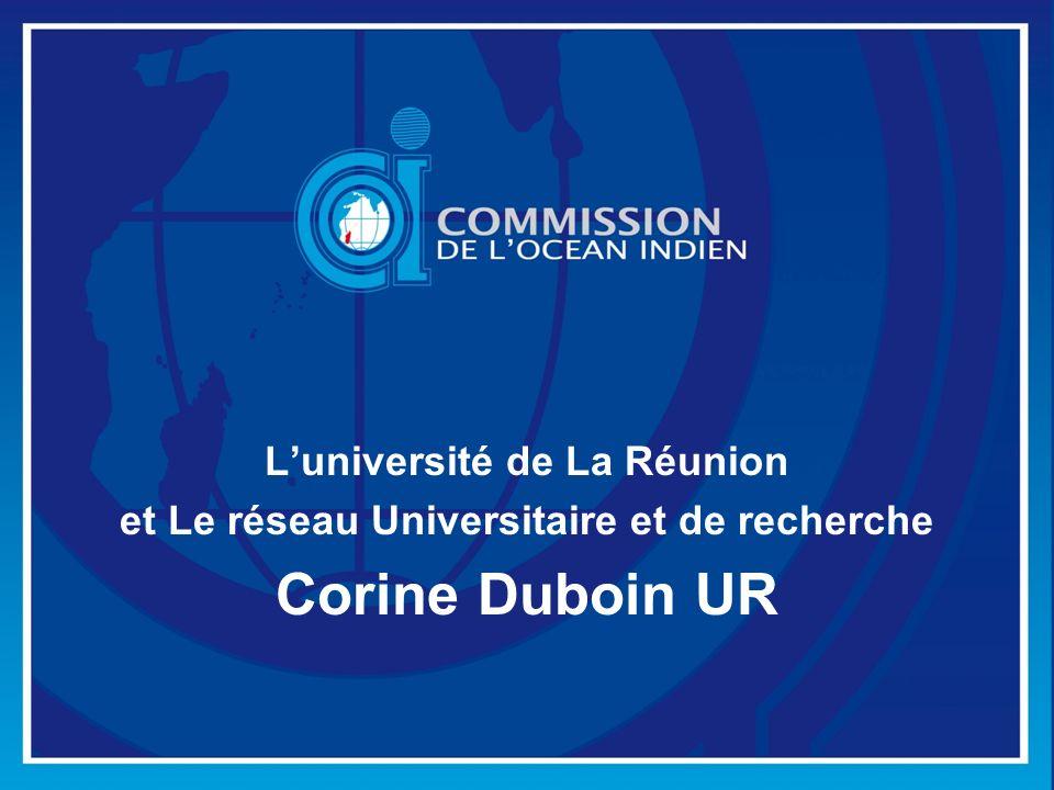L'université de La Réunion et Le réseau Universitaire et de recherche
