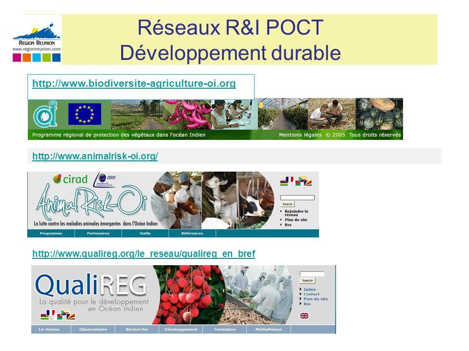 Réseaux R&I POCT Développement durable
