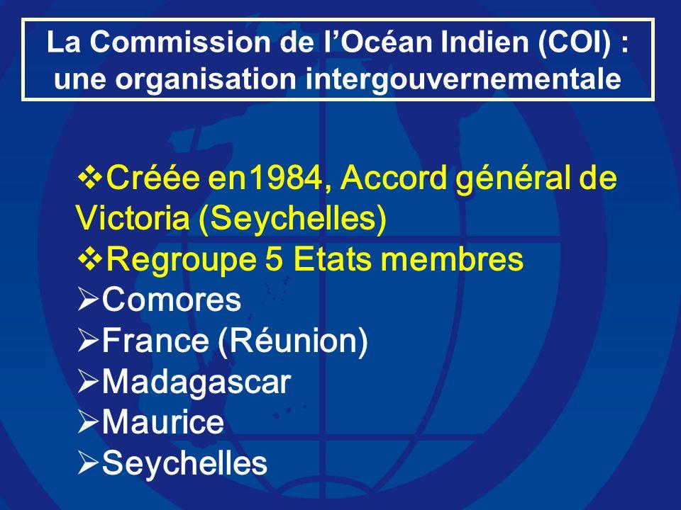 Créée en1984, Accord général de Victoria (Seychelles)