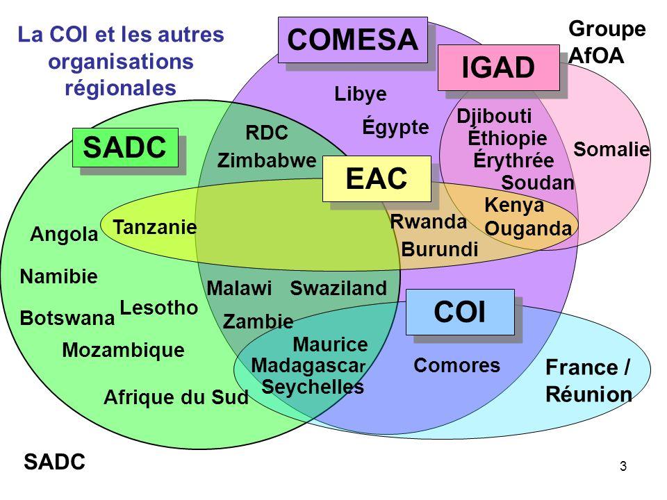 La COI et les autres organisations régionales