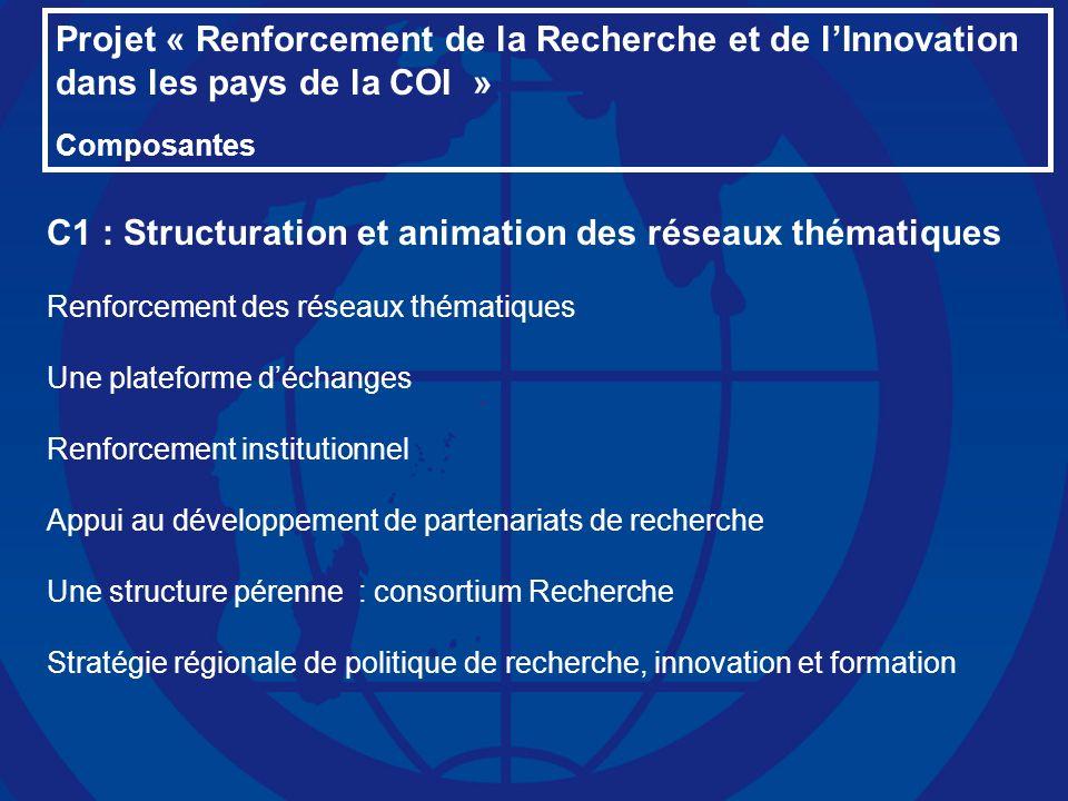 C1 : Structuration et animation des réseaux thématiques