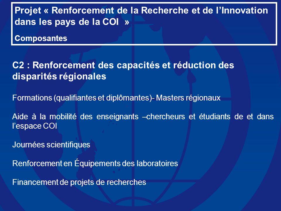 C2 : Renforcement des capacités et réduction des disparités régionales